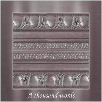 A thousand words - PP Metallic handmålad tag ca 5x8 cm