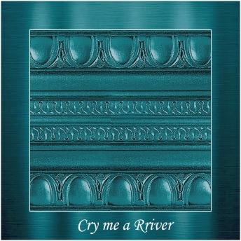 Cry me a river - PP Metallic handmålad tag ca 5x8 cm