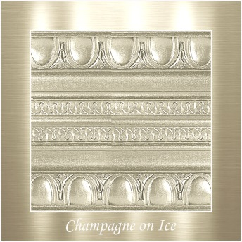 Champagne on ice - PP Metallic handmålad tag ca 5x8 cm