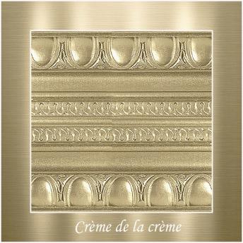 Crème de la crème - PP Metallic handmålad tag ca 5x8 cm