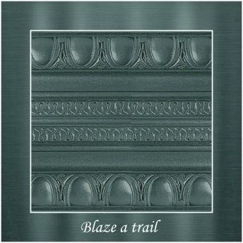 Blaze a trail - PP Metallic handmålad tag 5x8 cm