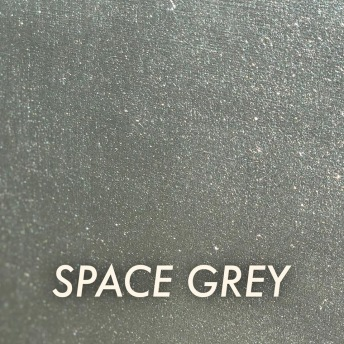 Autentico Metallico Space Grey - Handmålad tag ca 5x8 cm