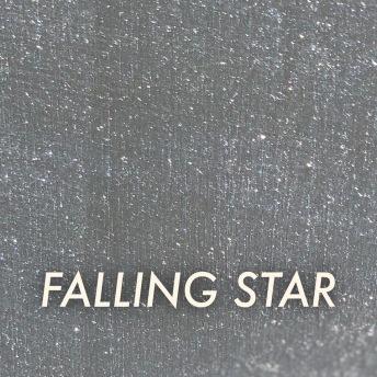 Autentico Metallico Falling Star - Handmålad tag ca 5x8 cm