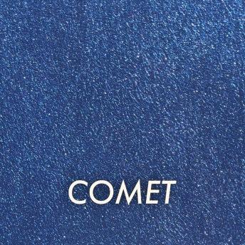 Autentico Metallico Comet - Handmålad tag ca 5x8 cm