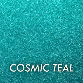 Autentico Metallico Cosmic Teal - Handmålad tag ca 5x8 cm