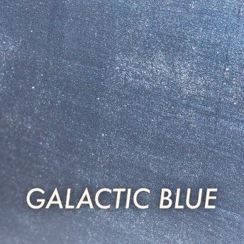 Autentico Metallico Galactic Blue - Handmålad tag ca 5x8 cm