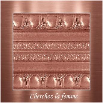 Cherchez la femme - PP Metallic handmålad tag 5x8 cm