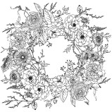 Paintable: Winter´s Song Wreath