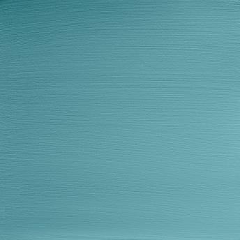 Antique Turquoise - Vintage Handmålad Tag 3x6 cm