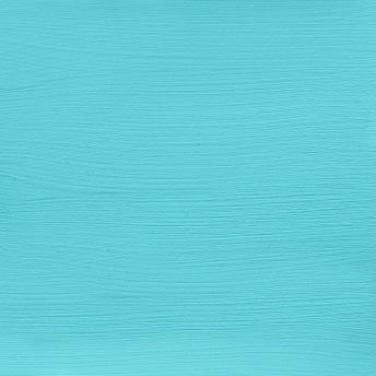 Bright Turquoiuse - Vintage Handmålad Tag 3x6 cm