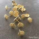 Dekorationsspik Ø12 Blomma Guld