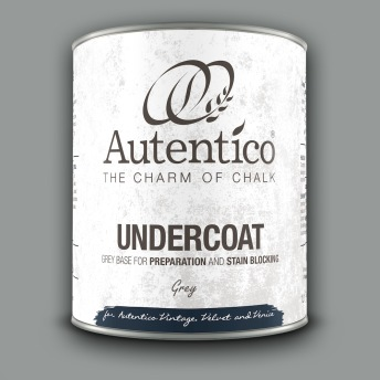 Autentico Undercoat Häftgrund/Täckfärg GRÅ - Autentico Undercoat 1 L
