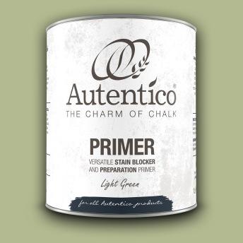 Autentico Primer/Spärrgrund LJUSGRÖN - Handmålad tag - provbit 3x6 cm