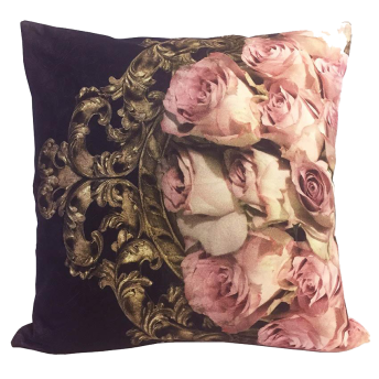 Black Rococo Roses (organic) - Endast Kuddfodral