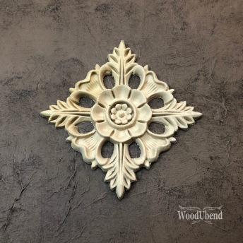 Centerpiece Square WUB1352 (S) 9.5x9.5cm - 1 st Fyrkantigt ornament