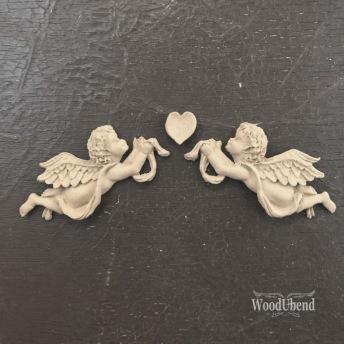 Angel Heart WUB1186 Mått 16x3cm - Ornament 3 delar