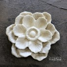 Classic Multi Petal Flower WUB0355 Mått 5 cm