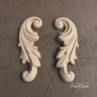 Decorative Scrolls Pair WUB1320 Mått 12x5cm