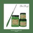 DBP Evergreen - Handmålad tag (trä) ca 3x6 cm