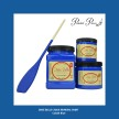 DBP Cobalt Blue - Handmålad tag (trä) ca 3x6 cm