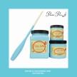 DBP Dixie Belle Blue - Handmålad tag (trä) ca 3x6 cm