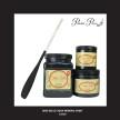 DBP Caviar - Matte Black - Handmålad tag (trä) ca 3x6 cm