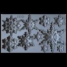 IOD Form Snowflakes