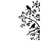 Schablon Birds & Branches 21x30cm