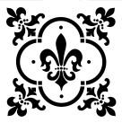 Schablon Fleur De Lis 30x30cm