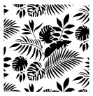 Schablon Tropical Leaves 50x50cm
