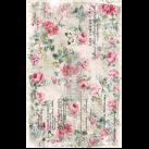 Floral Wall Paper ca 50x75cm