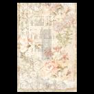 Floral Parchment ca 50x75cm