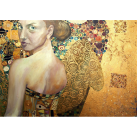MINT Decoupagepapper Woman in Gold 30x42cm