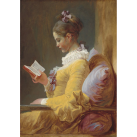 MINT Decoupagepapper Young Girl Reading 59x84cm