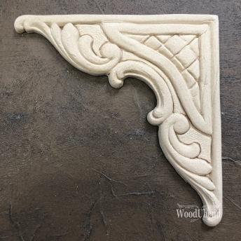 Baroque Corner WUB2101 Mått 12x12cm - Ornament hörn