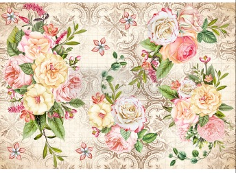 Amiable Roses - Rice Paper