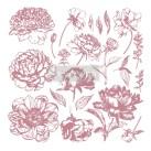 Re Design Stämpel Linear Floral