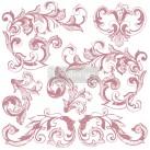 Re Design Stämpel Elegant Scrolls
