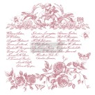 Re Design Stämpel Floral Script