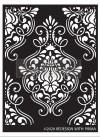 Re Design Schablon - Flourish Emblem ca 23x34cm