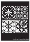 Re Design Schablon - Coastal Tile ca 23x34cm