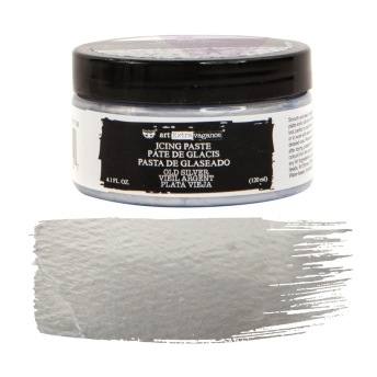 Art Extravagance Icing Paste - OLD SILVER 120ml -