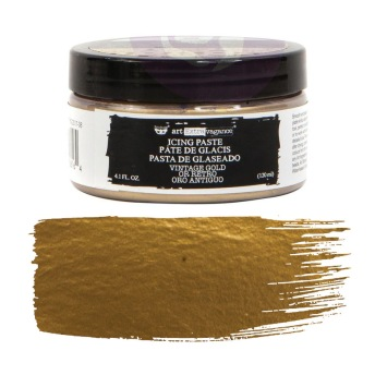 Art Extravagance Icing Paste - VINTAGE GOLD 120ml -