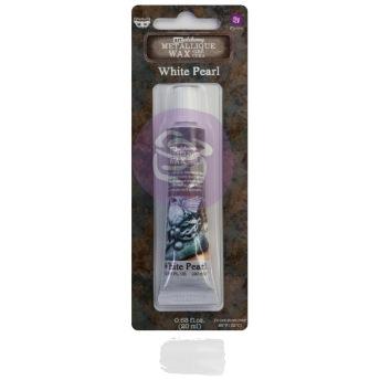 Art Alchemy Metallique Wax 20ml -  Metallisk Vaxpasta PEARL WHITE -