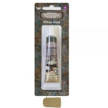 Art Alchemy Metallique Wax 20ml -  Metallisk Vaxpasta WHITE GOLD -