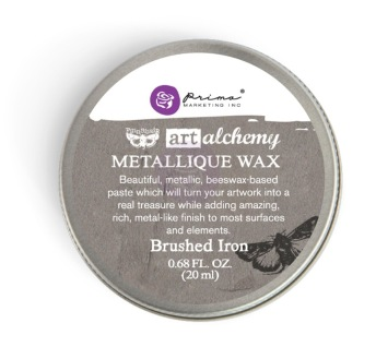 Art Alchemy Metallique Wax 20ml -  Metallisk Vaxpasta BRUSHED IRON -