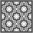 Re Design Schablon - Dainty Fleur ca 56x56cm