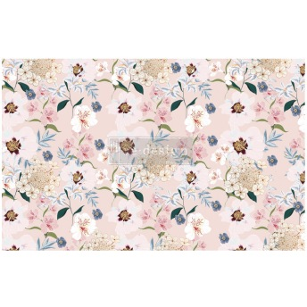 BLUSH FLORAL ca 50x75cm - Tissue Paper