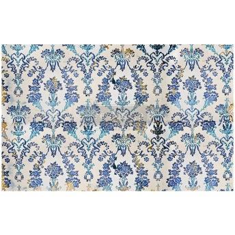 COBALT FLOURISH ca 50x75cm - Tissue Paper