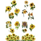 DBP Belles and Whistles Transfer - Sunflowers ca 61x81cm